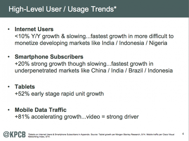Meeker Report: High-Level User/Usage Trends