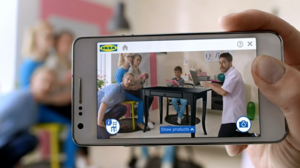 The Ikea catalog app allows users to see exactly how furniture will look in their home.