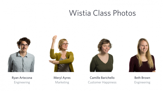Wistia's use of faces = awesome visual content
