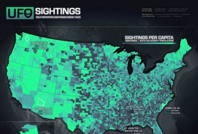 Best Infographics of 2015: 4_IDV Solutions_UFO Sightings