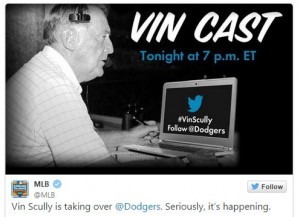 Twitter Vin Scully Dodgers Takeover