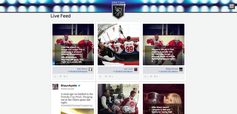 Fantasy Camp content curation example