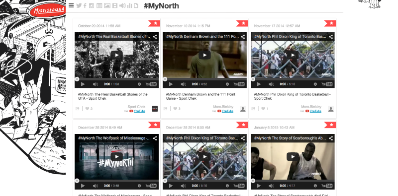 Sport Chek's #MyNorth content curation example